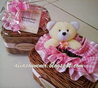 Keranjang Rotan Kotak Cantik 3 In 1 Pink 139409 alia souvenir souvenir tempat tisu rotan boneka bentuk