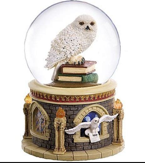 snow globe with fan harry potter quot s hedwig music box not a harry potter fan
