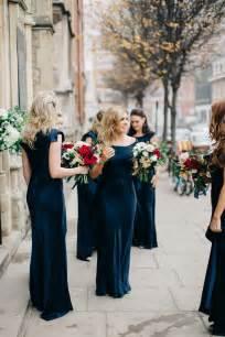 bridesmaid dresses for november weddings navy gold winter wedding styled by liz linkleter