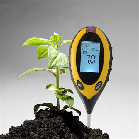 Alat Pengukur Ph Air Lazada 4 em 1 multifuncional digital soil temperatura umidade
