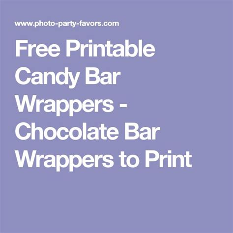 Printable Bar Wrappers