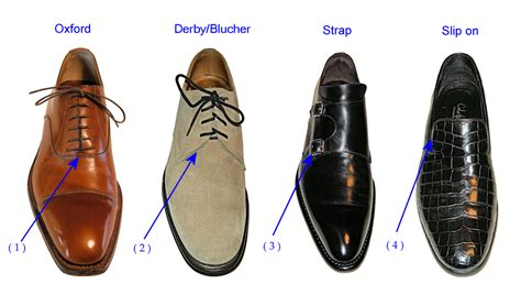 shoe types and styles leather shoe