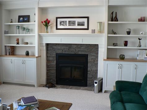 Fireplaces With Bookshelves On Each Side Shelves By Shelves Next To Fireplace