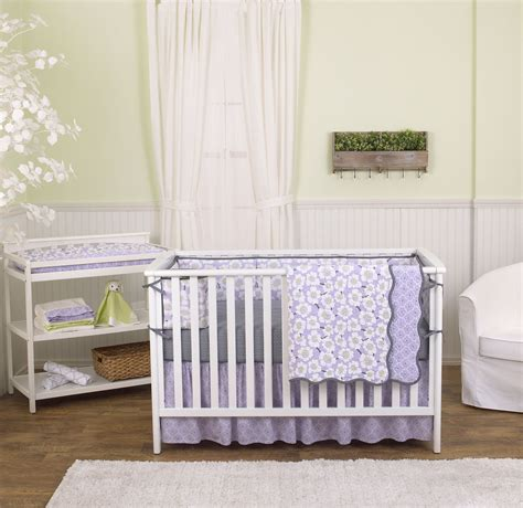 lavender crib bedding sets lavender purple poppy floral 5 piece crib bedding set with