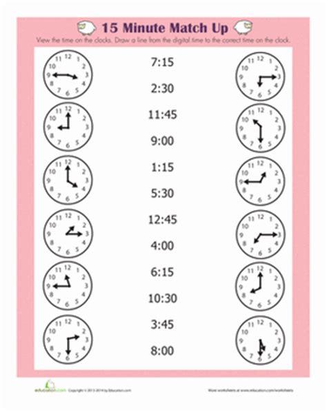 Quarter Time Worksheets by Quarter Hour