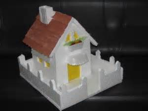How To Make Lotus With Thermocol Thermocol House With Paper Roof Model 2 Craft Works