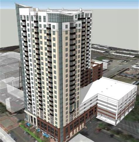 design center charlotte massive 25 story apartment complex being built next to the