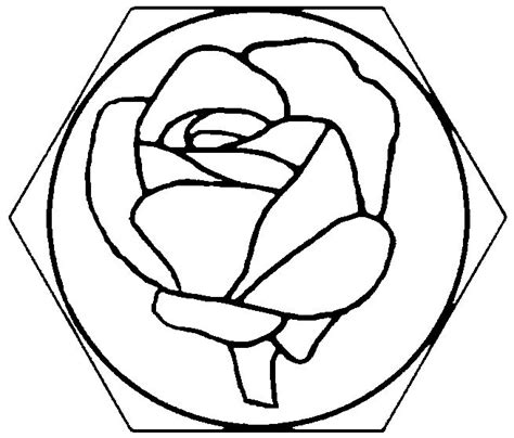 rose pattern for mosaic easy mosaic ideas rose stained glass stepping stone