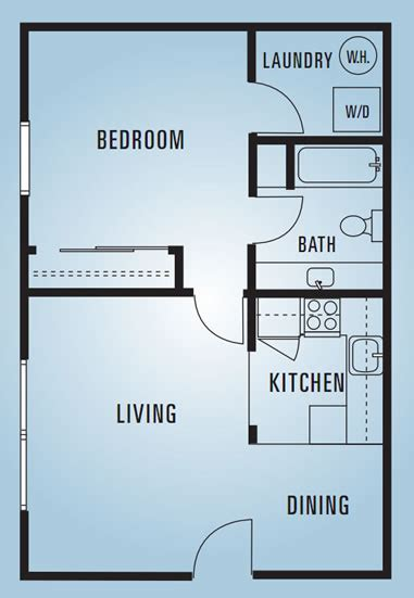 600 Sq Ft Apartment by Sycamore Lane Apartments Floor Plans