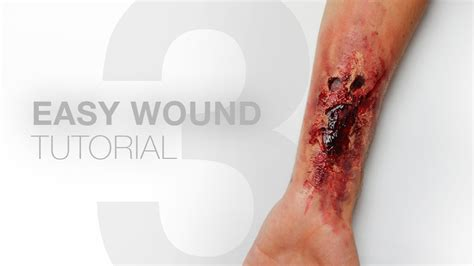 wound tutorial without latex 3 easy wounds without liquid latex makeup tutorial