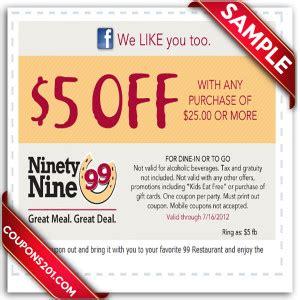 printable restaurant coupons calgary 99 restaurants printable coupon december 2016