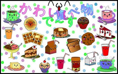 wallpaper cute food cute drawings
