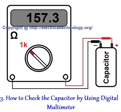 check capacitor ac how to check a capacitor with digital multi meter 4 methods