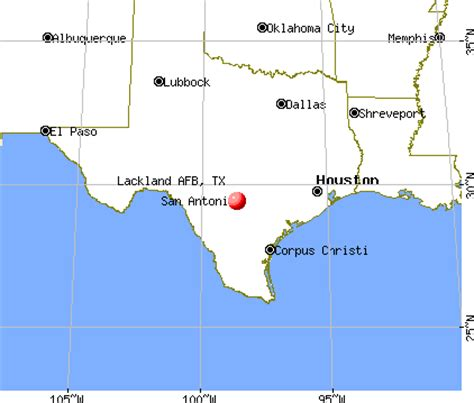 afb in texas map lackland afb tx
