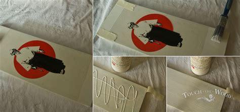 transfer print  wood pva glue mod podge
