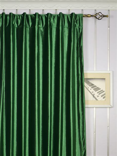 Green And Blue Curtains Hotham Green And Blue Plain Ready Made Concealed Tab Top Blackout Velvet Curtains