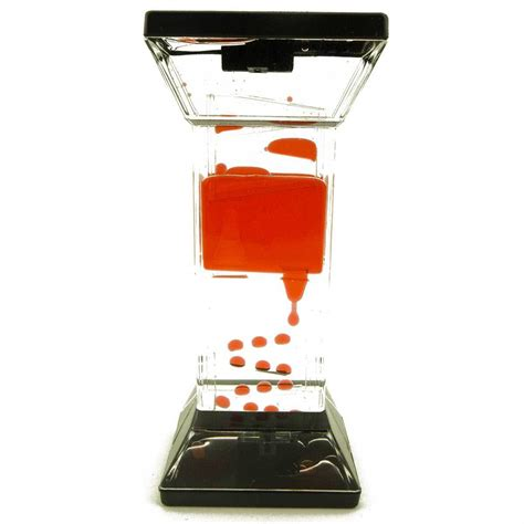liquid motion desk toy spinning dripping zig zag liquid motion timer oil toy