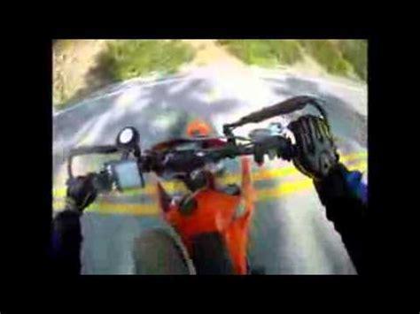 motorcycle hits deer 85 mph helmet cam motorcycle crash with deer youtube