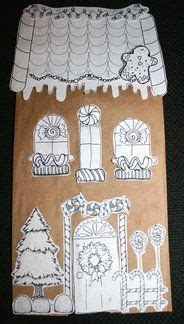 paper bag gingerbread house craft gingerbread house from brown paper bag free printable