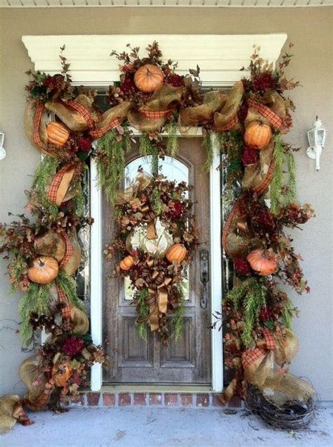 fall entrance decorating ideas 30 cozy thanksgiving front door d 233 cor ideas digsdigs