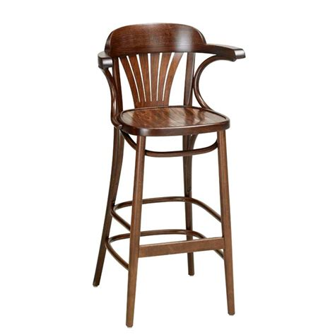 Bar Stool With Arms And Back Fan Back Bentwood Bar Stool With Arms Indoor And Outdoor Furniture From Andy Thornton Ltd 12