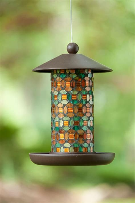 marrakech stained glass bird feeder deck area pinterest