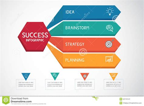 workflow graphics successful business concept infographic template can be