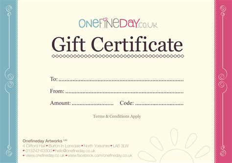 Letter Gift Vouchers Onefineday Artworks Gift Vouchers Free Uk Delivery