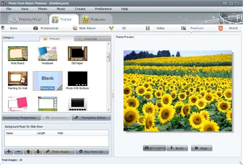 themes photo slideshow creator photo flash maker platinum flv slideshow maker video