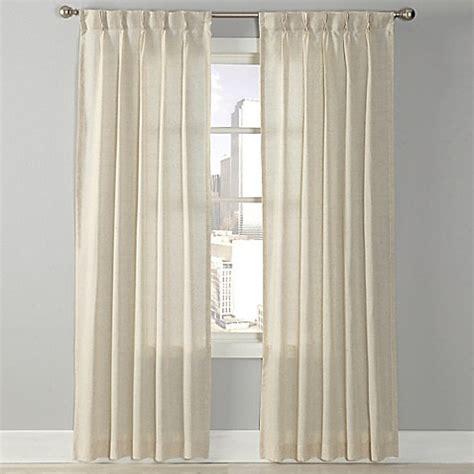 pinch pleat curtains bed bath beyond splendor grommet glide pinch pleat sheer window curtain