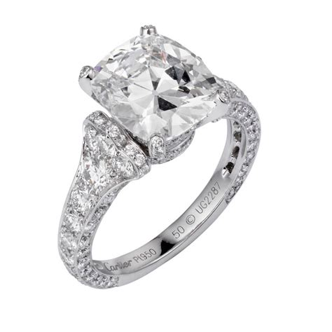cushion cut cushion cut cartier rings