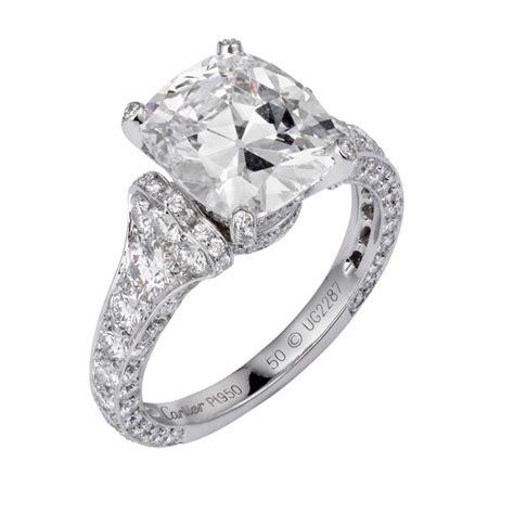 Cushion Cut Diamond: Cushion Cut Diamond Cartier Ring