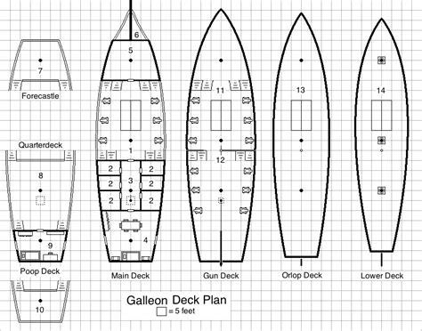 pirate ship floor plan d20 pirates the galleon
