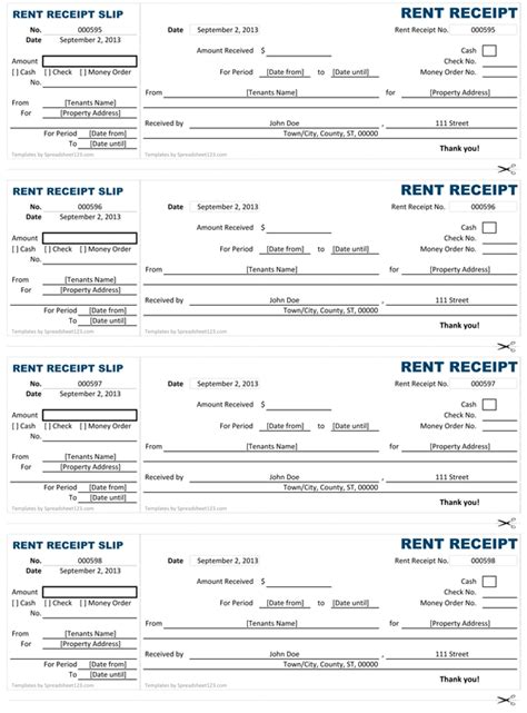 tenant rent receipt template car rental invoice sle hardhost info