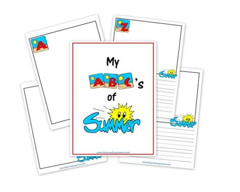 printable alphabet journal my abc s of summer a free printable journal