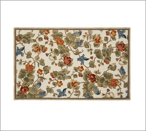 pottery barn rugs outlet bird floral rug pottery barn