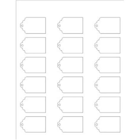 price tag template microsoft word templates printable tag 18 per sheet avery