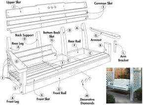 Patio Swing Plans by Free Porch Swing Plans Woodwork City Free Woodworking Plans