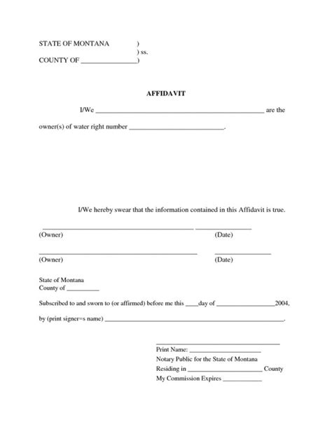 very simple yet efficient affidavit form template exle