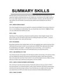 Essay Summary Exles by Summary Writing Skills