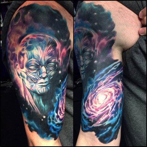galaxy sleeve tattoo 24 spiral galaxy tattoos
