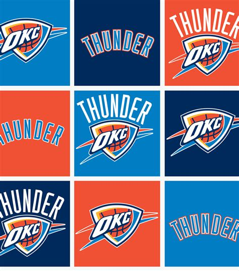 okc thunder colors licensed nba fleece fabric oklahoma city thunder jo