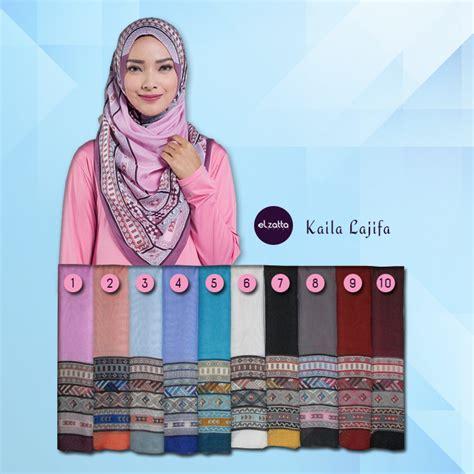 Jilbab Segiempat Bonjela Polos Tengah 2 jilbab segiempat motif pinggir cantik elzatta kaila lajifa elzatta jual jilbab elzatta