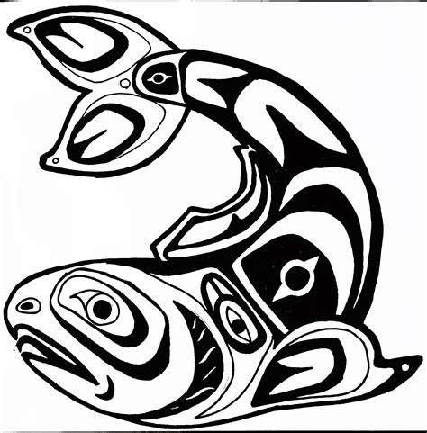northwest indian coloring pages native american salmon coloring pages coloring page