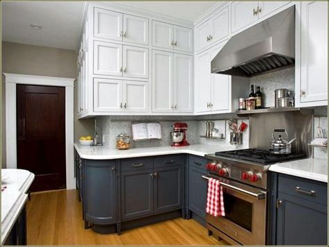 white upper cabinets grey lower kitchen grey lower cabinets white upper google search