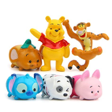 Figure Tsum Tsum Seri Set 6pcs set tsum tsum figures toys pluto pig tigger stitch stacked pvc figures