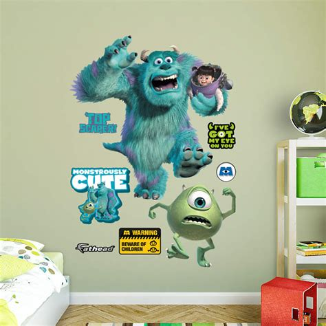 monsters inc bedroom accessories monsters inc wall decal shop fathead 174 for monsters inc