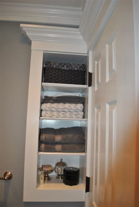 bathroom built in storage ideas custom storage built in door small bathroom storage
