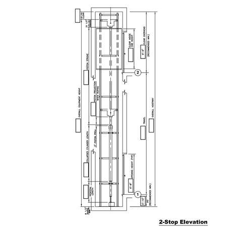 hydraulic lift section hydraulic drawings custom elevator