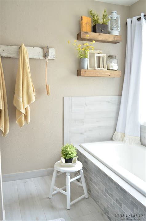 farmhouse master bathroom reveal vintage nest